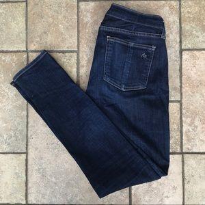 Rag & Bone Mid Rise Skinny Jeans 28